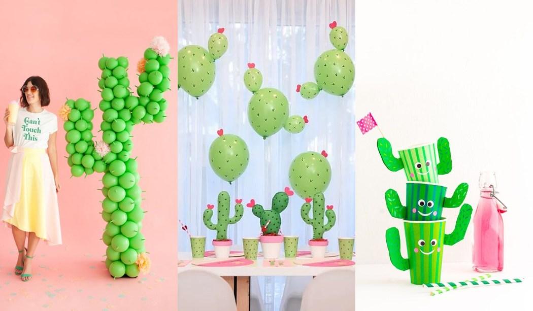 20 Ideas para una fiesta temática Cactus