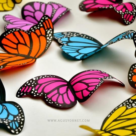 Como hacer mariposas de papel decoraci n fiestas - Como hacer mariposas de papel para decorar paredes ...