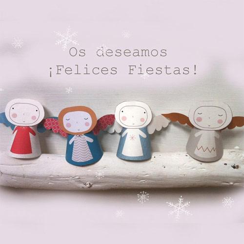 Angelitos de Navidad para imprimir