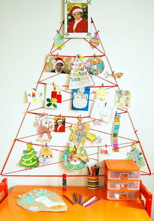 Arbol de navidad de lana decoraci n fiestas - Arbol de navidad de pared ...