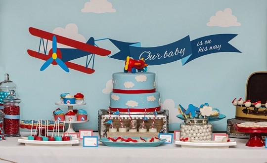 Baby Shower Aviones