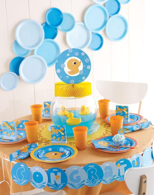 Ideas De Decoraciones Para Baby Shower De Nino.Baby Shower Patitos De Goma