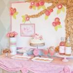 Baby Shower floral en tonos rosas