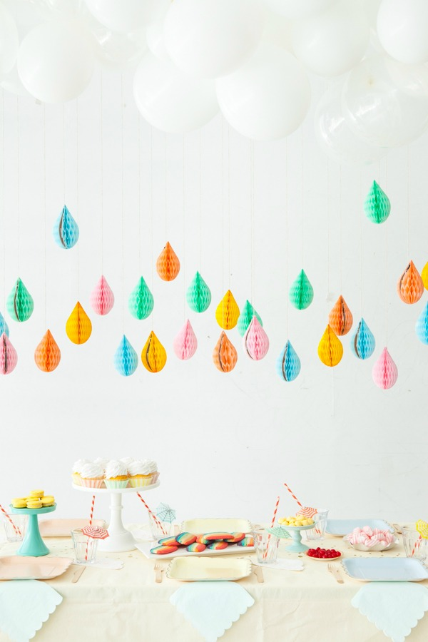 Decoracion De Nubes Para Baby Shower.Nubes Y Gotas Para Decorar Un Baby Shower