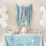 Baby Shower decorado en tonos azules