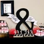 Baby Shower elegante en negro y rosa