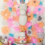 Un Baby Shower con Unicornio y Flores
