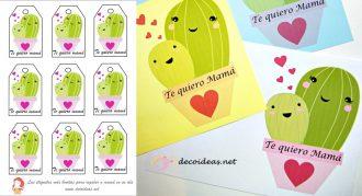 Imprimible Cactus para el Día de la Madre