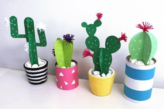 Cómo hacer cactus de papel