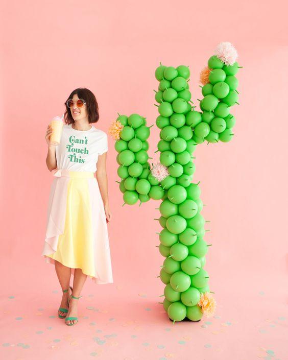 Cactus gigante de globos