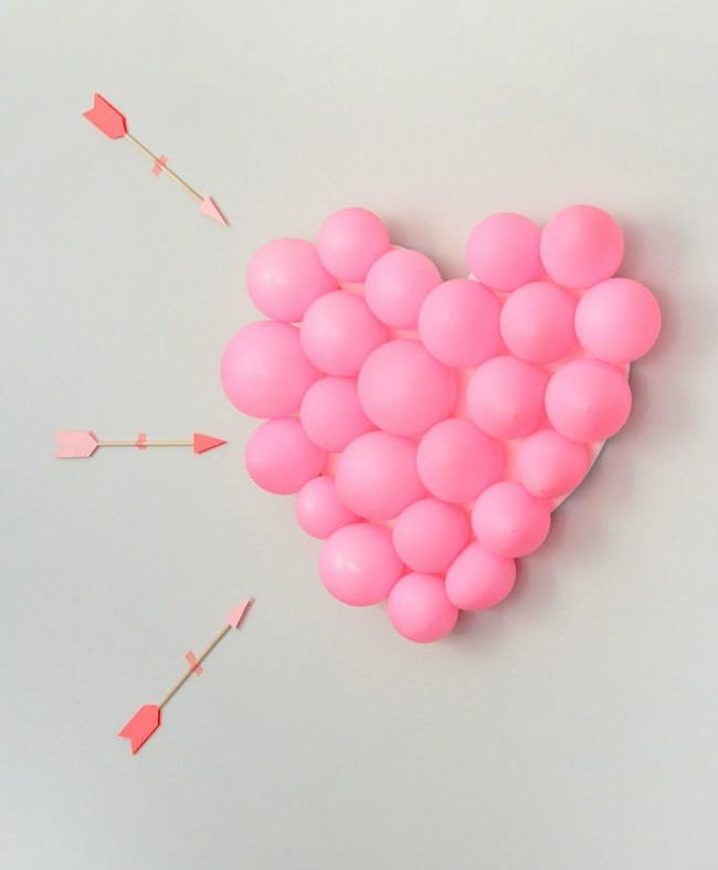 Coraz n de globos para san valent n decoraci n fiestas - Como hacer adornos de san valentin ...