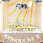 Cumpleaños infantil en amarillo y azul