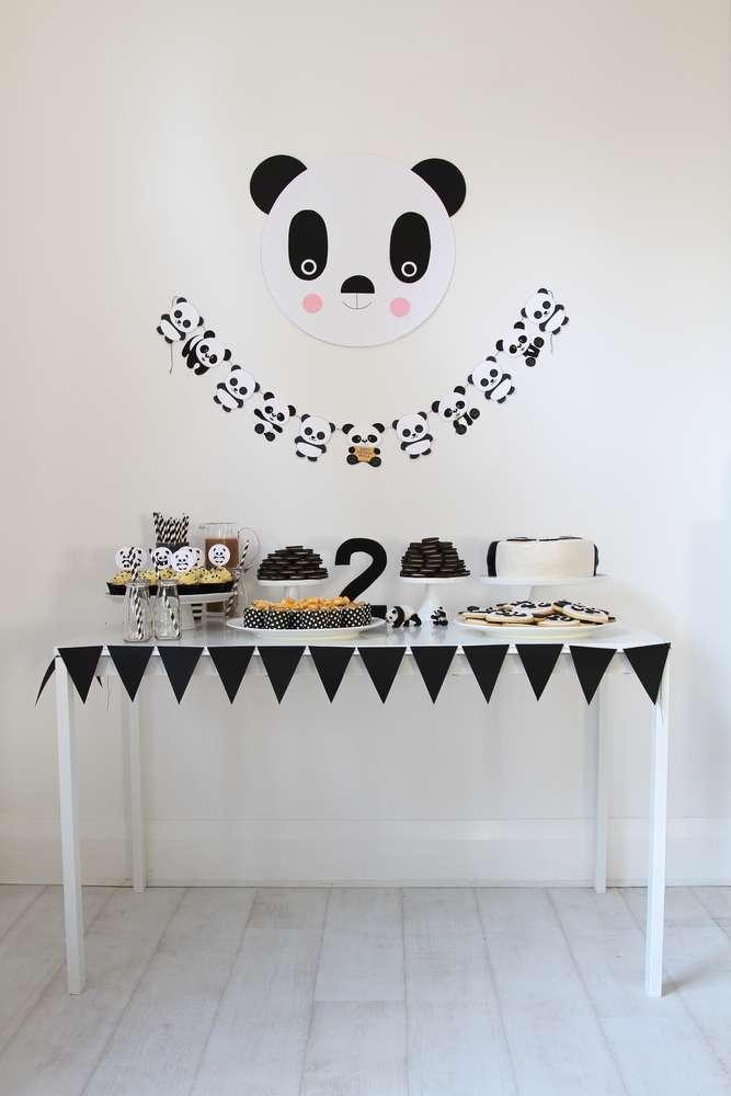 Cumpleaños infantil Panda