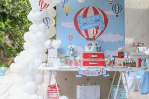 Primer cumpleaños temático: Globos aerostáticos