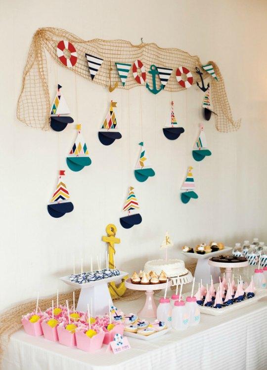 ideas para una adorable fiesta nutica
