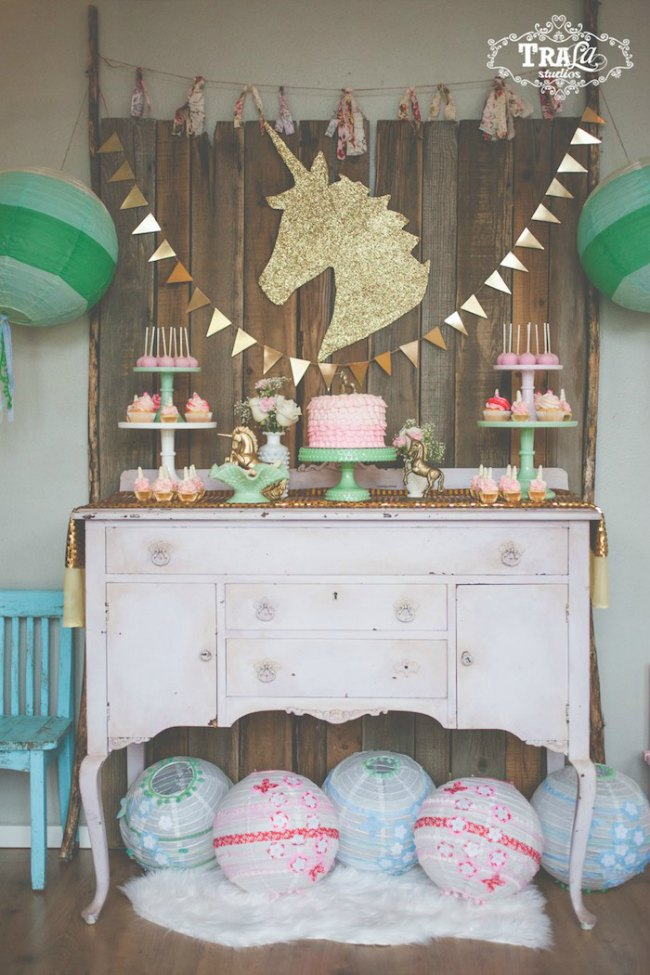 fiestas infantiles unicornio inspiracin cumpleaos infantiles