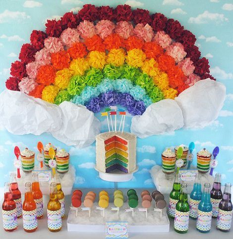 Cumpleaños Arcoiris para adolescentes
