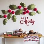 Manualidades para decorar una pared en Navidad