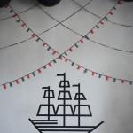 Barco Pirata de washi tape