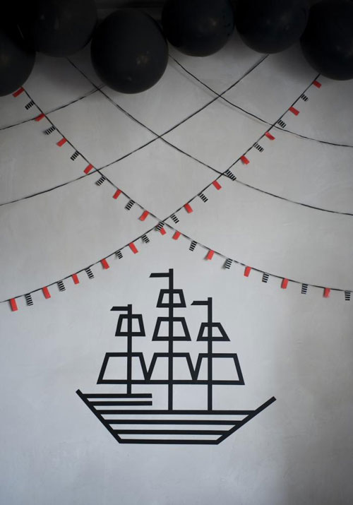 Barco Pirata de washi tape