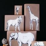 Decorar regalos con diseños de animales