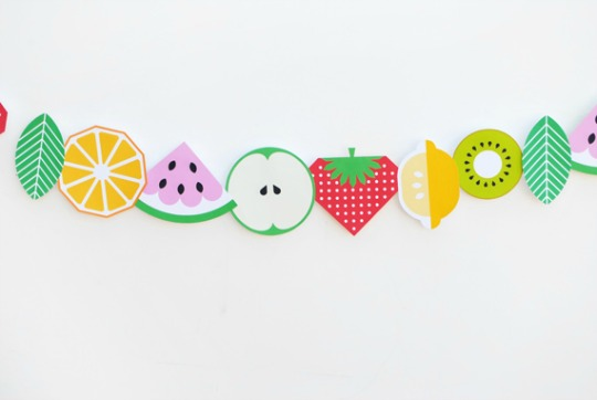 Guirnalda de frutas para imprimir