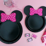 Hazlo tú mismo: Fiesta Minnie Mouse platos decorados