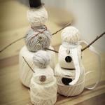 Muñecos de nieve de lana