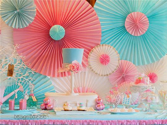 Como Hacer Rosetones De Papel Decoracion Fiestas - Adornos-de-papel-para-cumpleaos