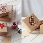 Papel de regalo bordado