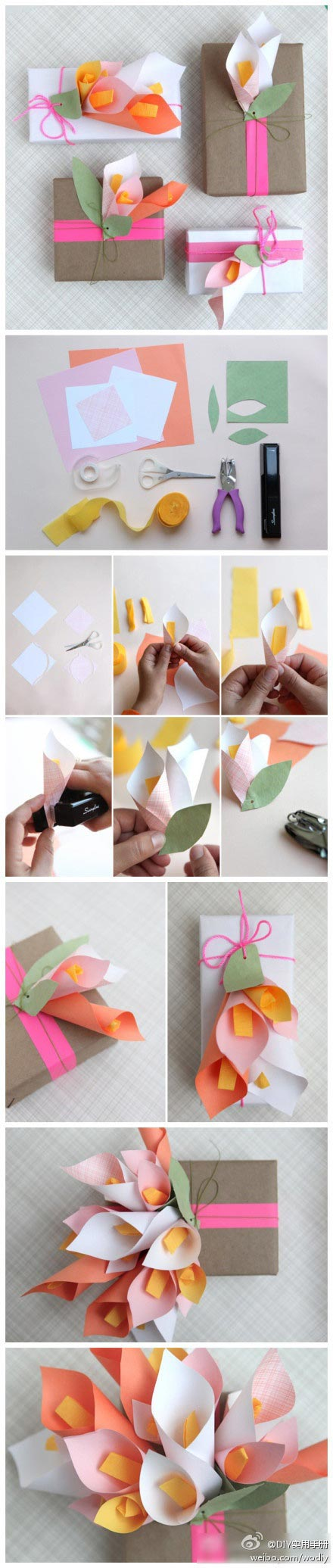 Ideas para decorar regalos con flores