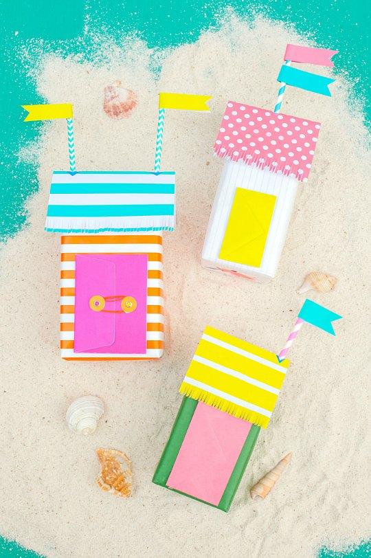 Envoltorios creativos: Casitas de playa