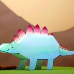 Dinosaurios de papel para imprimir y montar
