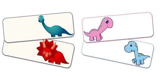 Etiquetas de Dinosaurios para imprimir
