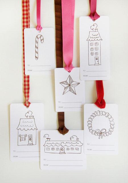 Imprimibles de Navidad: etiquetas para regalos
