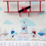 Fiesta vintage primer cumpleaños: Aviones