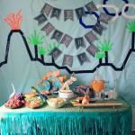 Bonita Fiesta de dinosaurios con decoración original
