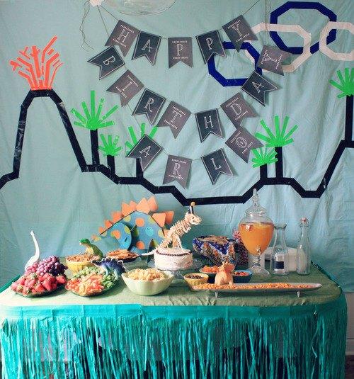 bonita fiesta de dinosaurios con decoracin original