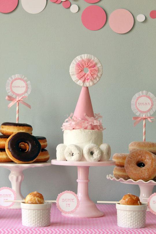 fiesta donut cumpleaos adultos