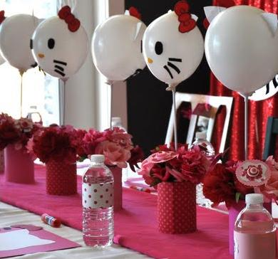 Como decorar globos de Hello Kitty