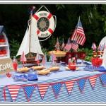 Fiesta Naútica en rojo, blanco y azul