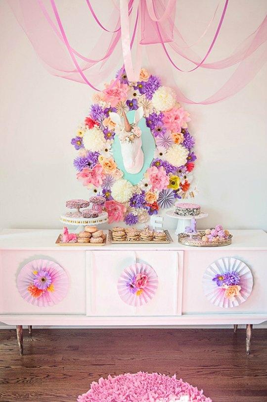 Fiesta tem tica unicornio decoraci n fiestas for Decoracion para la pared de unicornio