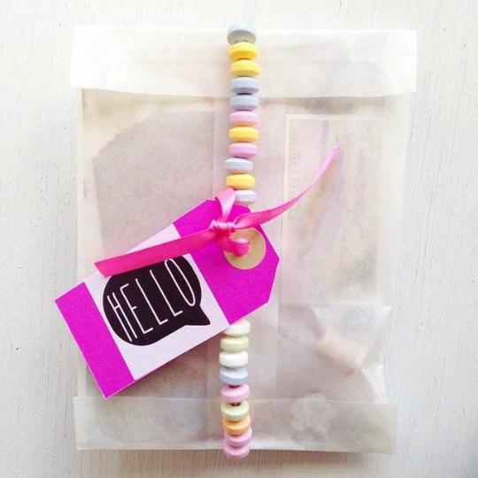 Inspiración fiestas, collar de caramelos