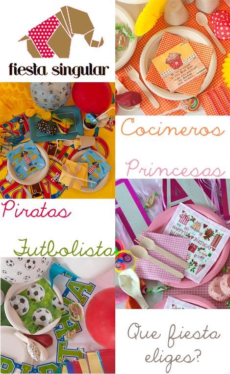 Packs Fiestas Temáticas para niños y adultos