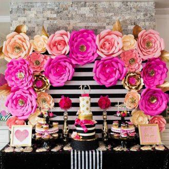 Flores Para Fiestas Como Hacer Flores De Papel De Cartulina Para