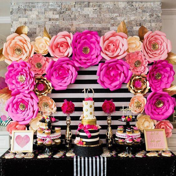 idea cumplea os con flores de papel decoraci n fiestas