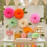 Decorar con flores de pompones, tutorial