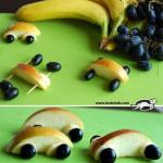 Simpática forma de presentar la fruta a los peques
