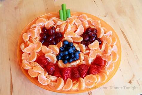 Recetas de frutas para Halloween