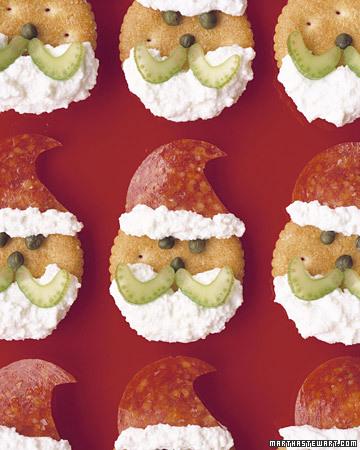 Galletas saladas de Santa Claus